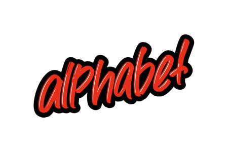 alphabet hand drawn modern brush lettering for business, print and advertising.