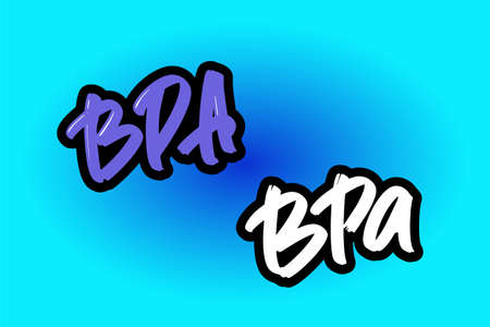 BPA hand drawn modern brush lettering for business, print and advertising.
