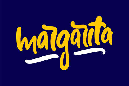 Margarita hand drawn lettering for business, print and advertising.