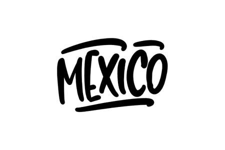 Mexico hand drawn lettering for business, print and advertising.