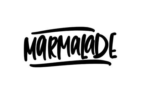Marmalade hand drawn lettering for business, print and advertising.
