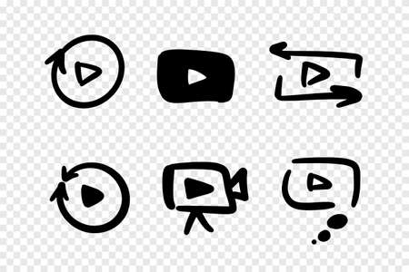play buttons set.