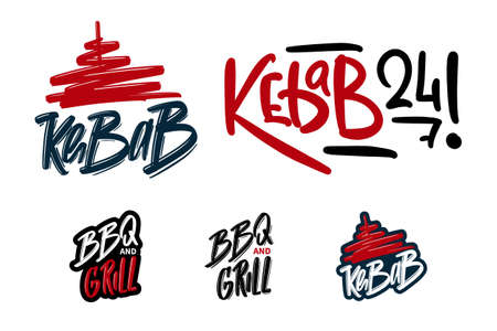 kebab hand drawn lettering for business, print and advertising.