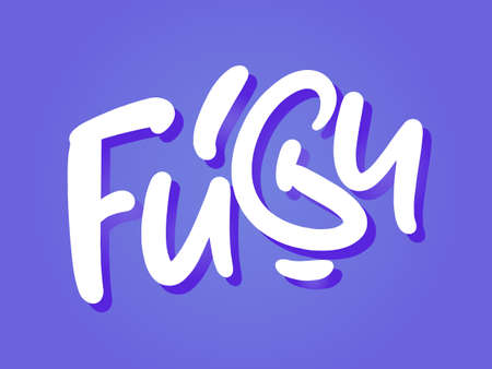 Fugu hand drawn lettering for business, print and advertising.