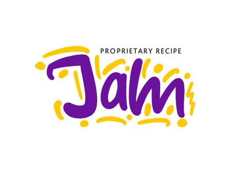 Jam lettering for business, print and advertising. Illusztráció