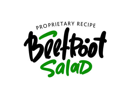 Beetroot salad hand drawn lettering for business, print and advertising.