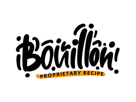 Bouillon lettering for business, print and advertising.