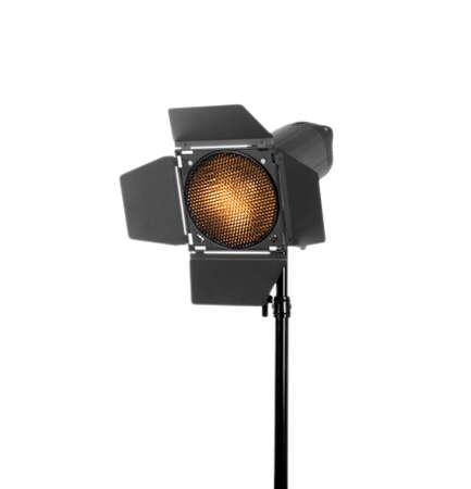 Studio lighting isolated on a white background. Professional flash and lighting. Studio spotlight. Photo equipment. Stock Photo