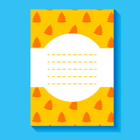 Yellow greeting card with a place for an inscription. Vector illustration. Banner. Illustration