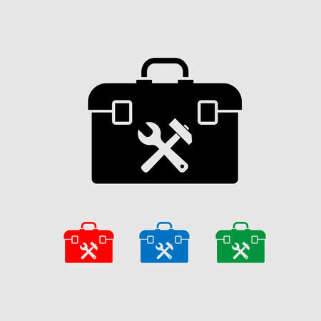 Vector illustration. Banner. Settings for the device. Toolbar icon. Below are the different colors.