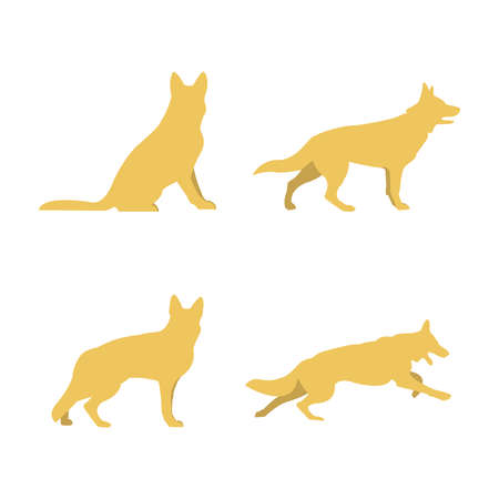 great danger: Silhouettes of dogs icon.