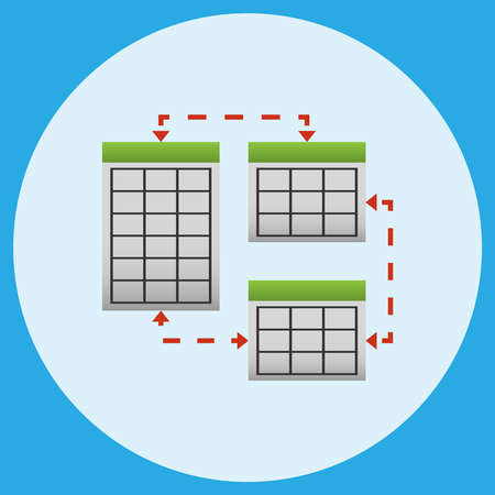 Synchronization and multiplying of server elements . Vector illustration.