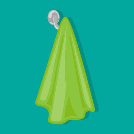 Ein Handtuch wiegt auf dem Handtuchhalter.