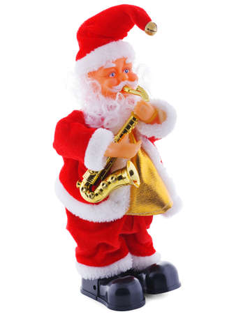 Christmas statue of Santa Claus isolated on white background