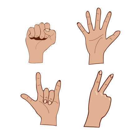 Hands with open and closed fingers.