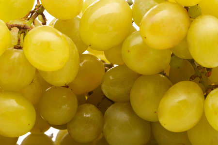 Grape of green grapes. Close-up. Stock Photo