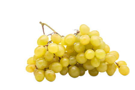 Bunch of grapes on a white background. Isolation. Stock Photo