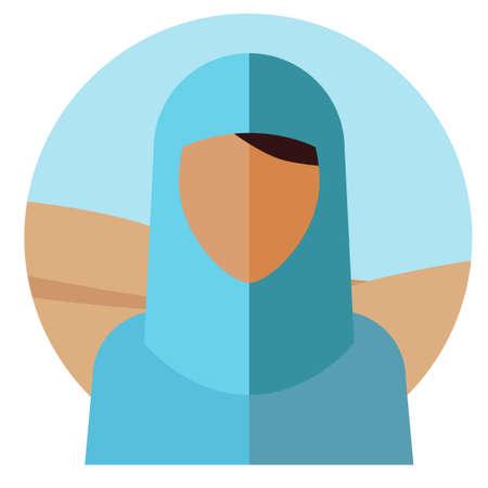 A faceless Muslim girl. Vector illustration.