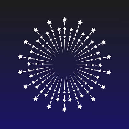 A beautiful firework display on a blue backdrop, which is a symbol for celebrations like holiday and wedding.