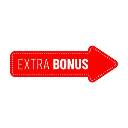 Label or badge with text extra bonus isolated on white background. Super bonus stamp. Vector illustration  イラスト・ベクター素材