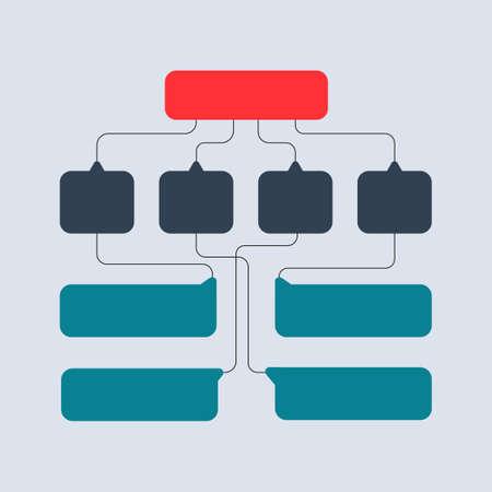 Multicolored structural schemes, diagrams, web designs. Business structure concept Vector design Illustration.