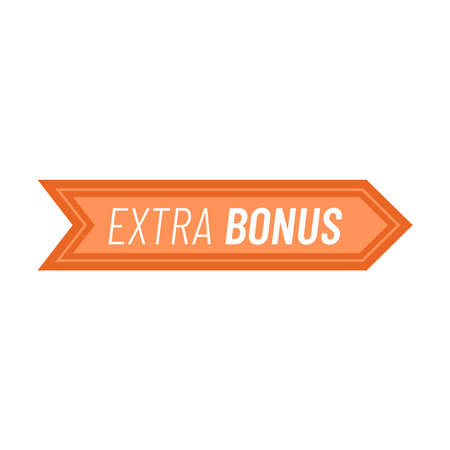 Label or badge with text extra bonus isolated on white background. Super bonus stamp Vector illustration