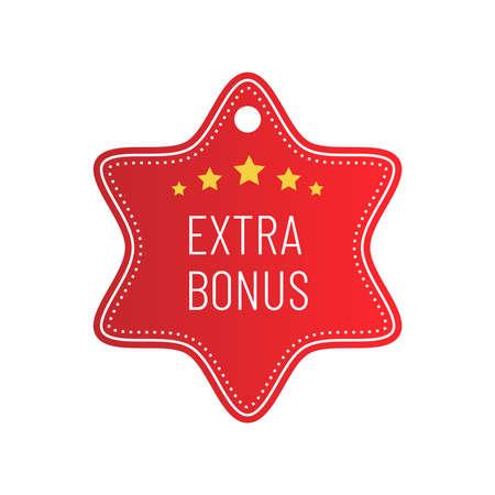 Label or badge with text extra bonus isolated on white background. Super bonus stamp. Vector illustration Illustration