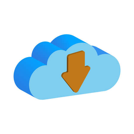 A cloud backup data folder, isolated on a white background.