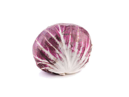 Fresh red cabbage isolated on a white background