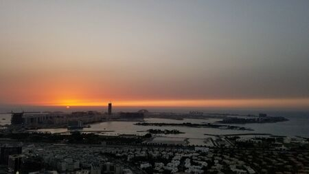 Dubai palm sunset Archivio Fotografico - 135970035
