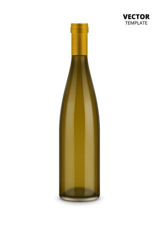 unopened: Wine glass bottle mockup for design presentation ads. Illustration