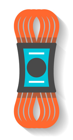 alpinism: Climbing rope icon isolated vector