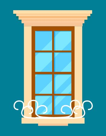 Window isolated element in flat design