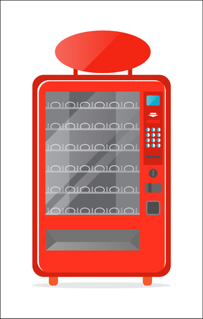 auto service: Modern vending machine vector icon