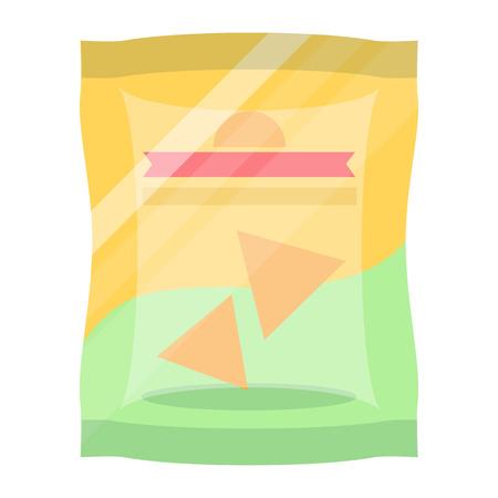 ポテトチップの袋分離ベクトルのアイコン