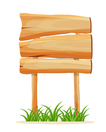 wood panel: Wooden empty signboard vector icon Illustration