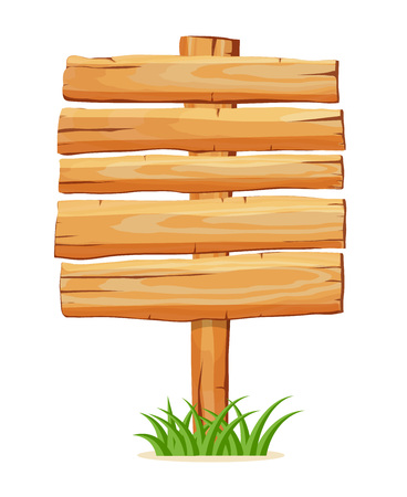 Panneau vide en bois pour l'icône du vecteur message