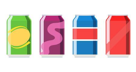 Soda-aluminium kan vectorpictogram instellen