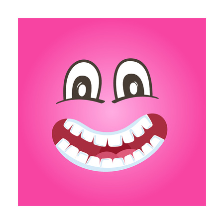 Frisky smiley face vector icon. Funny facial expression emoji, cute comic emoticon isolated vector illustration.