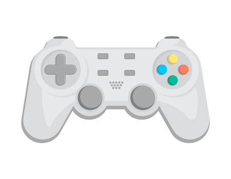 touchpad: Modern gamepad icon in cartoon style. Game gadget, cybersport digital device, control console for video game isolated vector illustration. Illustration