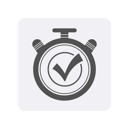 Creditworthiness icon with stopwatch sign. Credit score symbol, financial history, commercial bank pictogram isolated vector illustration
