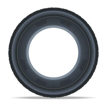 auto repair: Side view car tire icon.