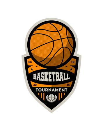 Basketball professional championship vintage isolated label. College league badge, sport championship symbol, athletic camp logo vector illustration.