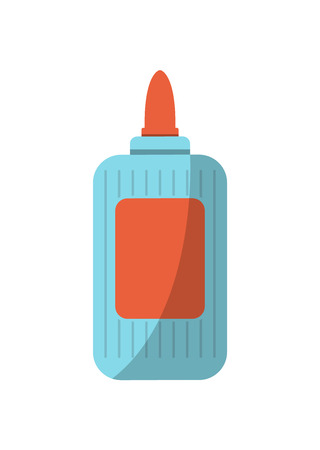 School glue bottle icon in flat style. School supplies sign, education element vector illustration.