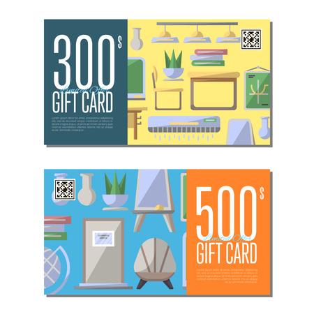 Gift Card Set For Classroom Furniture. School Interior Design ...
