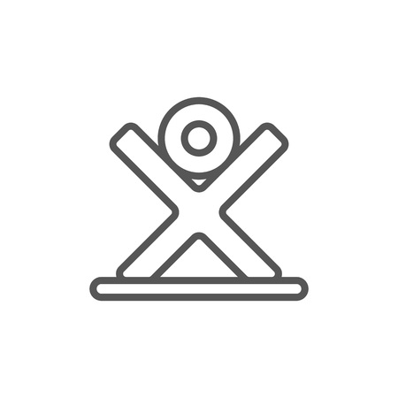 Tree log icon in linear style. Joinery workshop product and equipment, sawmill element, woodwork tool vector illustration.