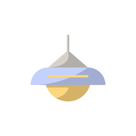 Lamp icon in flat style. Joinery workshop product and equipment, sawmill element, woodwork tool vector illustration. Ilustracja