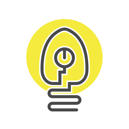 Electrical light bulb icon in thin line style. Electrical equipment, simple lamp pictogram isolated on white background vector illustration. Illustration