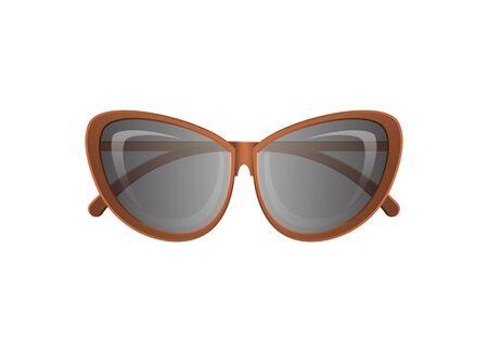 Female glamour spectacles icon. Elegant eyeglasses, trendy fashion accessory isolated on white background vector illustration.