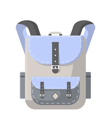 Icône de sac à dos de voyage. Camping et touristique illustration vectorielle de sac à dos isolé sur fond blanc au design plat.